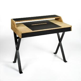 Stanley - desk oak/Linoleum 105x60 H 85 cm