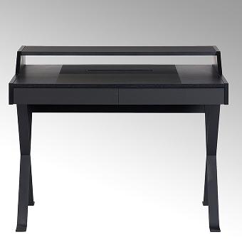 Stanley desk solid oak, black writing surface
