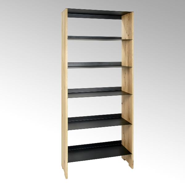 Morton shelf-system oak/steel 8o x32 x 191 cm