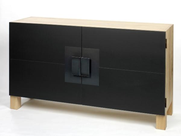 Morton sideboard oak/linoleumt 160x50 H90cm