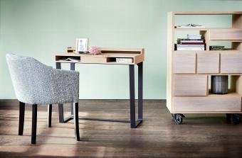 Harvey desk solid oak / veneer white