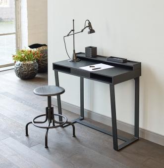 Harvey desk solid oak / veneer black