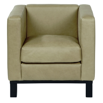 Bella armchair, 74x72x7o cm with leather Afrika,