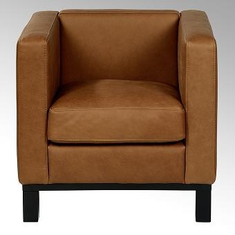Bella armchair, 74x72x7o cm with leather Santa Fe