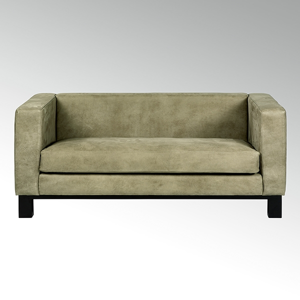 Bella sofa with leather AFRIKA taupe,