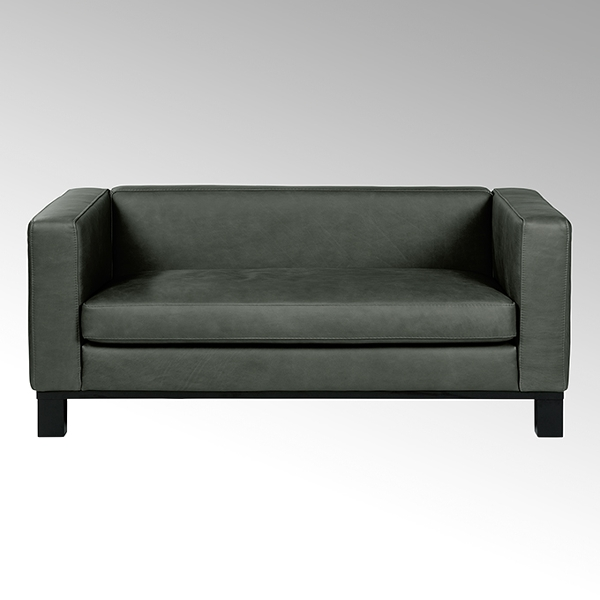 Bella sofa with leather AFRIKA, anthracite