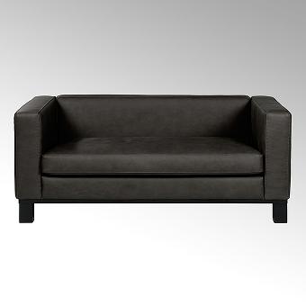 Bella sofa with leather SANTA FE darkbrown