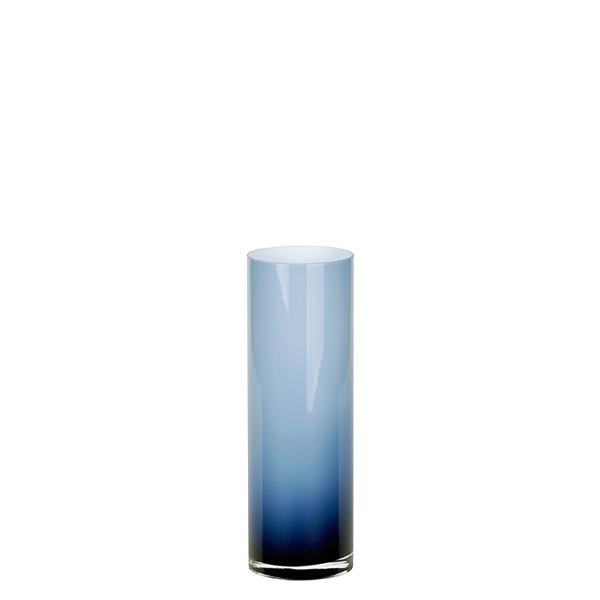 Glassvase blue grey D8 H20 cm