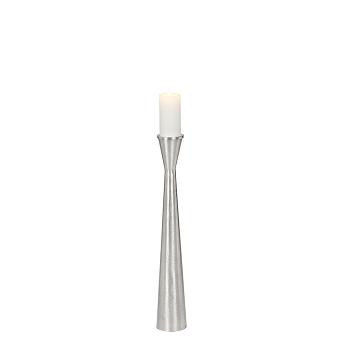 Candleholder aluminium brushed