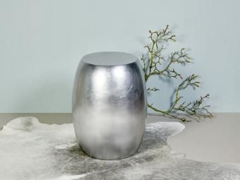 Keiko stool silver H 51 cm D 40 cm