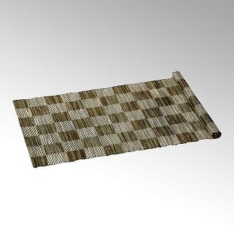 Narita tablerunner 50x150 cm nature/black/silver