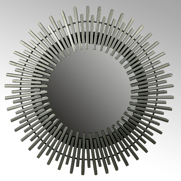 Sahathour Spiegel rund Eisen pulverbeschichtet