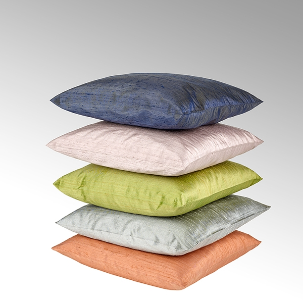 Seine cushion cover 100% silk steel grey, 40x40cm