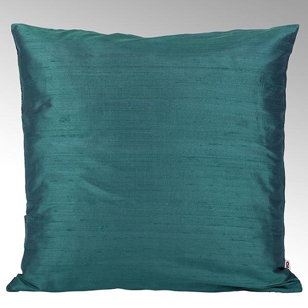 Seine cushion cover 100% silk turquoise, 40x40cm
