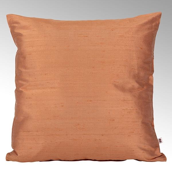 Seine cushion cover 100% silk orange, 50x50cm