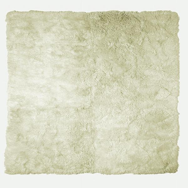 Taiga RUG, lambskin, white 250x250cm