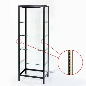 Schneewittchen glass display case with LED