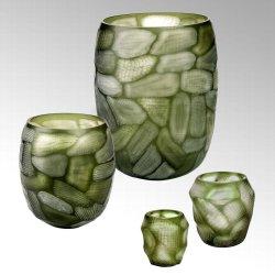Silvestro Glasvase Handgeschliffen