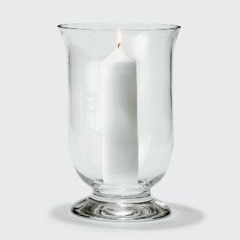 Mallorca stormlantern, clear glass, H31 D21 cm