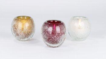 Salviato stormlight/vase H12 D12 cm red