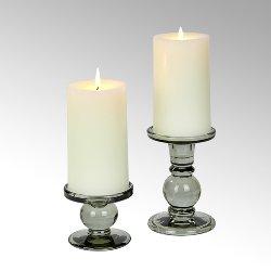 Andratx candleholder glass, smokey grey