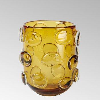 Jacobo glass vase safran