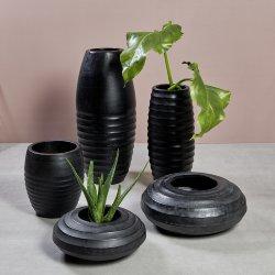 Sansibar vessel/planter charcoal H 31 D 26 cm