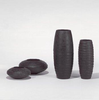 Sansibar vessel/planter charcoal H 21 D 45 cm
