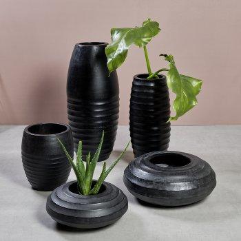 Sansibar vessel/planter charcoal H 55 D 23 cm