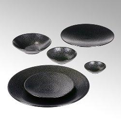 Kaori bowl D19 black metallic/ray stoneware
