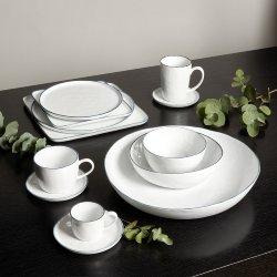 Piana plate white with basalt-grey rim d 21,5 cm