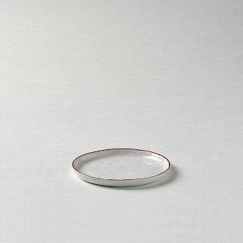 Piana plate white red rim d 13,5 cm