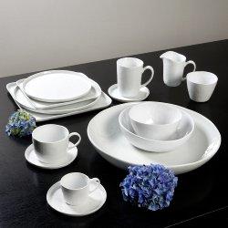 Piana bowl porcelain, white Dia 33 cm, H 6 cm