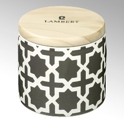 Ebba fragrance candle in vessel stonegrey with lid
