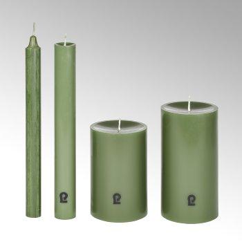 candle, round, linden, H 24 cm, D 3cm
