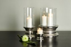 Makani storm lantern with candle