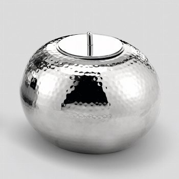 Marakesh vessel nickel plated H17 D25cm + candle
