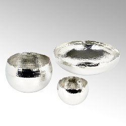 Dino hammered bowl alu-nickel plated D32 H10