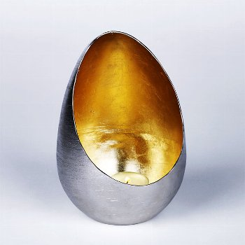 Casati storm lantern iron large, exterior nickel