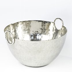 Paarl champagne cooler aluminium hammered,