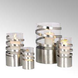 Spiral Windlicht Aluminium mini