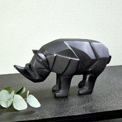 Rhino Figur Aluminium Sandguß