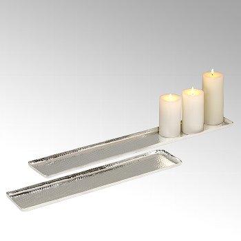 Darian Kerzentablett Aluminium
