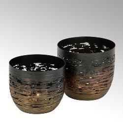 Osako Teelichthalter, Eisen, bronze-anthrazit