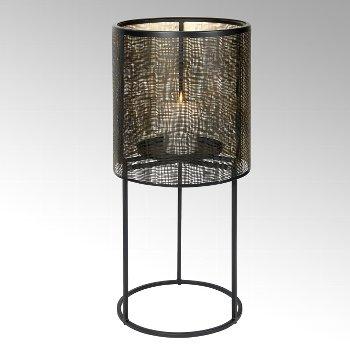 Hiroko Kerzensäule groß, Eisen, schwarz/gold