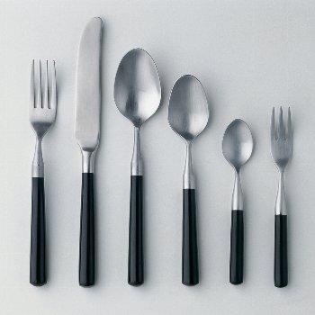 Daily tea spoon stainless-steel L 14 cm black