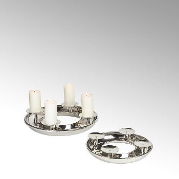 Saturnia table top wreath with 4 candleholders