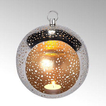 Pollux Teelichthalter Eisen geätzt rund