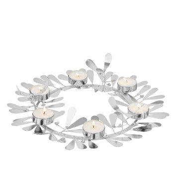Nespola misteltoe wreath for 6 maxi t-lights