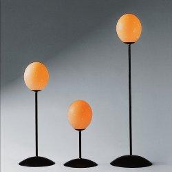 Emu table-lamp black/ostrich egg H 5o cm